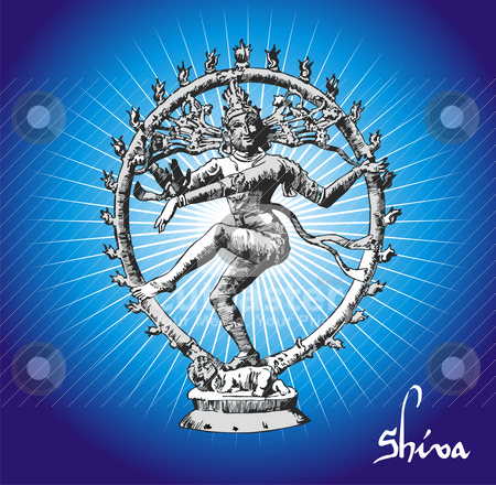 Shiva deity stock vector clipart, Vectorial Illustration of Shiva deity. by Cienpies Design