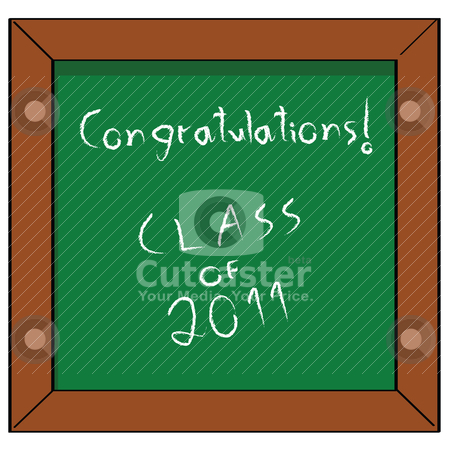 Congratulations Class of 2011 stock vector clipart, Cartoon illustration of a school blackboard with the words &quot;Congratulations! Class of 2011&quot; by Bruno Marsiaj