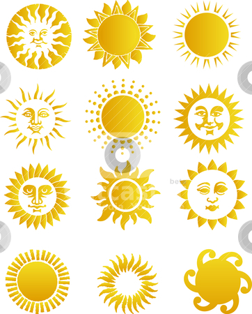 Sun stock vector clipart, sun by olinchuk