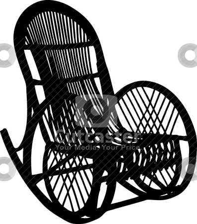Armchair-rocking chair stock vector clipart, Vector illustration of armchair-rocking chair by olinchuk