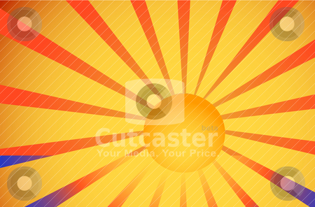Illustration of sea and sun stock vector clipart, Abstract vector illustration of sea and sun by olinchuk