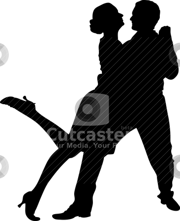 Couple dancing stock vector clipart, vector illustration of a couple dancing by olinchuk
