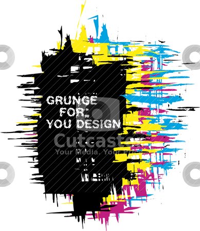 Grunge background as CMYK color stock vector clipart, Abstract vector grunge background as CMYK color by olinchuk