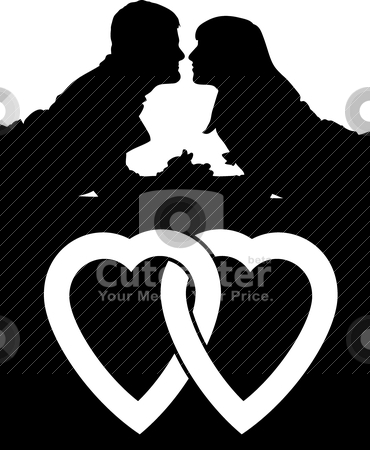 Couple love people stock vector clipart, Vector illustration of couple people by olinchuk