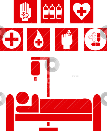 Medical signs illustration stock vector clipart, Abstract vector medical signs illustration by olinchuk