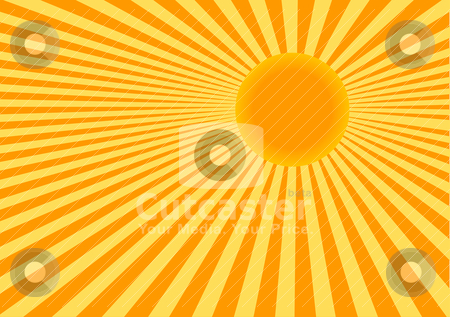 Sun stock vector clipart, Abstract vector color illustration of sun by olinchuk