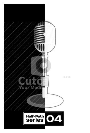 Retro Microphone  stock vector clipart, Retro Microphone. Half empty series by sermax55