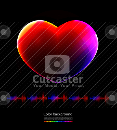Heart stock vector clipart, heart by sermax55