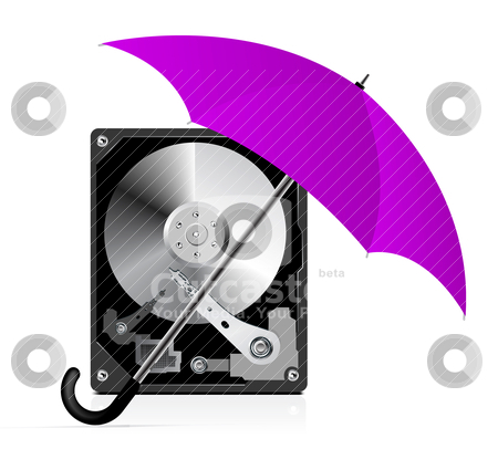 HDD Protection stock vector clipart, HDD Protection by sermax55