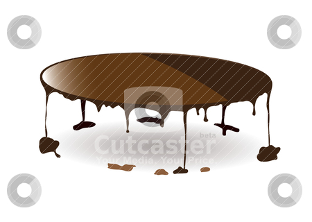 Chocolate dribble stock vector clipart, Dribble abstract concept with puddles of sauce by Michael Travers
