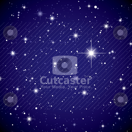 Space view star sky stock vector clipart, Sparkling nights sky with stars and dark space view by Michael Travers