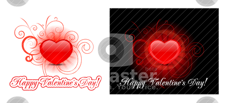 Heart background for valentine's day  stock vector clipart, Heart vector background for valentine's day  by sermax55