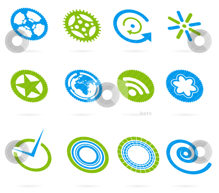 Vector design element set stock vector clipart, vector design element set by sermax55
