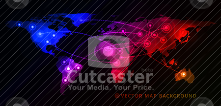Concept of global business stock vector clipart, Concept of global business with world map. Vector illustration by sermax55