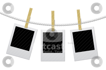 Designer concept - blank photo frames for your photos stock vector clipart, Designer concept - blank photo frames for your photos by sermax55