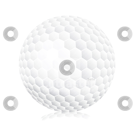 golf ball vector. Golf ball on white background