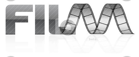 Vector film strip  stock vector clipart, vector film strip  by sermax55