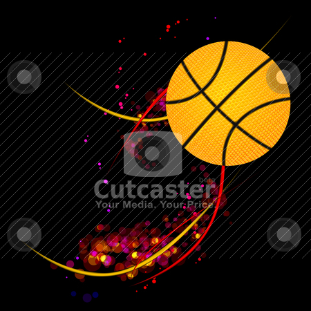 Basketball background stock vector clipart, basketball background by sermax55