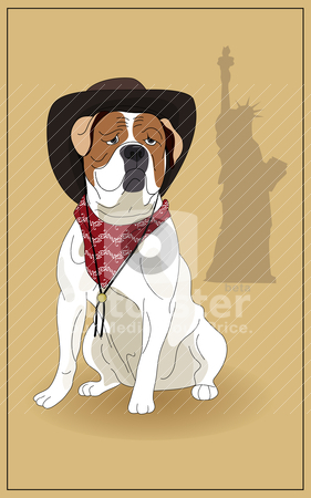 American Bulldog stock vector clipart, American Bulldog and the symbol ...