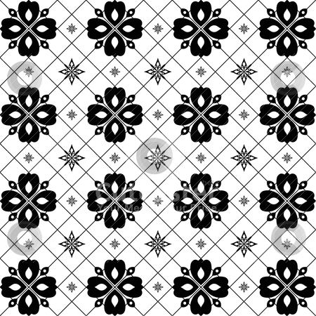 Seamless floral pattern  stock vector clipart, Abstract background of seamless floral pattern   by Ingvar Bjork