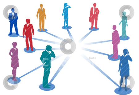 Connect business people network connection copy space stock vector