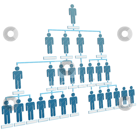 Organization corporate hierarchy chart company people stock vector clipart, Organizational corporate hierarchy chart of a company of symbol people. by Michael Brown