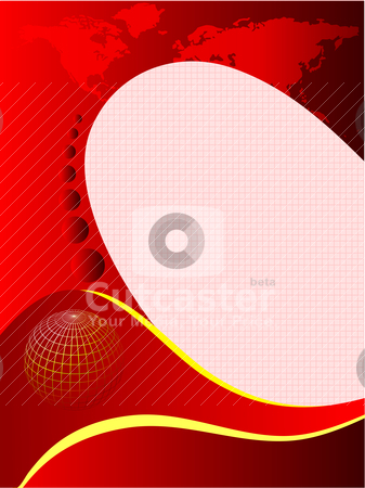 A red and white abstract business card stock vector clipart, A red and white abstract vector business card or brochure background illustration with room for text by Mike Price