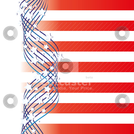 USA background stock vector clipart, Background with elements of USA flag, vector illustration  by Mykhaylo Kushch