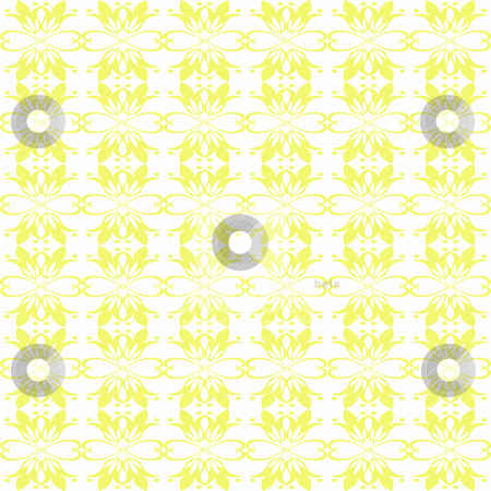 Seamless floral pattern stock vector clipart, Beautiful and abstract seamless floral patten by Ingvar Bjork