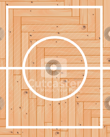 Wooden parquet  basketball stock vector clipart, wooden parquet  basketball  center  layout by Yuriy Mayboroda