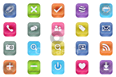 3d vector inset useful icon set  stock vector clipart, 3d vector inset useful icon set  by gotovanko1