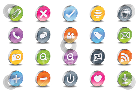 3d vector useful icon set  stock vector clipart, 3d vector useful icon set  by gotovanko1