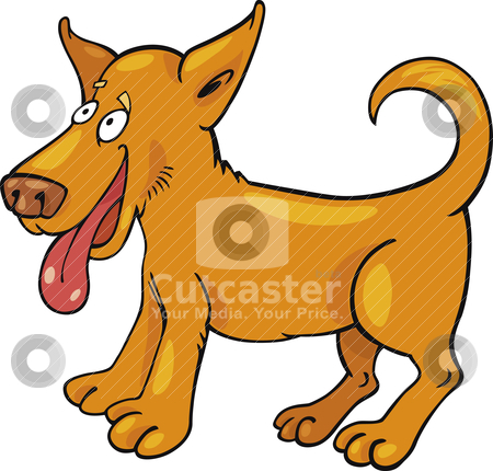 Cartoon puppy stock vector clipart, Cartoon illustration of funny puppy by Igor Zakowski
