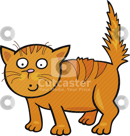 Cute little Cat stock vector clipart, Cartoon illustration of Cute little Cat by Igor Zakowski