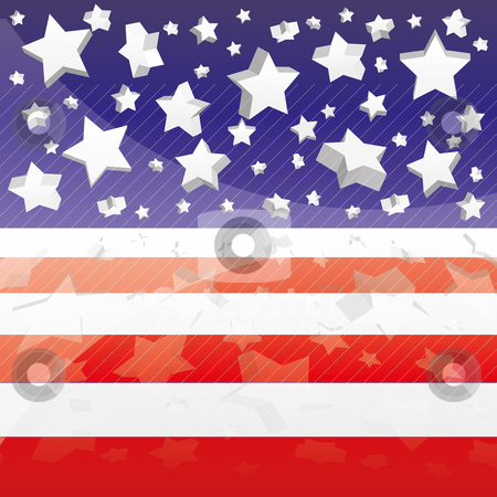 Background with elements of USA flag stock vector clipart, Background with elements of USA flag, vector illustration eps 10.0 by Mykhaylo Kushch