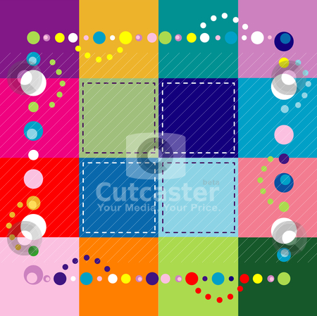 Background Template stock vector clipart, Vector Illustration of abstract party like background. There is room for text and/or logo in center. by Basheera Hassanali