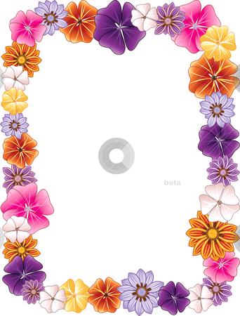 Flower Border stock vector clipart, Vector illustration of a Flower ...