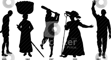 Black History Timeline stock vector clipart, Vector Illustration timeline for Black History month. by Basheera Hassanali