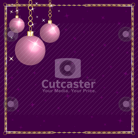 Christmas Pink Purple Ornaments stock vector clipart, Vector Illustration of a Christmas Pink Purple Ornaments. by Basheera Hassanali