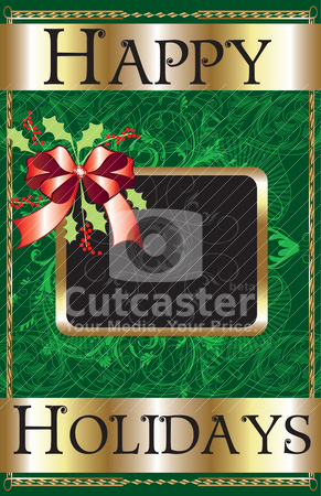 Happy Holidays Ribbon stock vector clipart, Vector Illustration of a Happy Holidays Ribbon Poster. by Basheera Hassanali