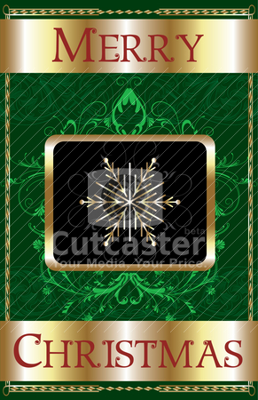 Merry Christmas Snowflake stock vector clipart, Vector Illustration of a Merry Christmas Snowflake Poster. by Basheera Hassanali