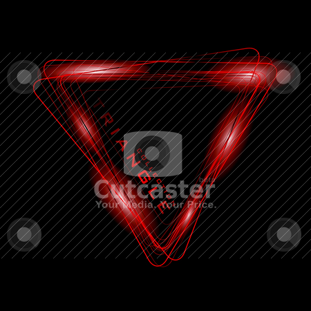 Neon Triangle stock vector clipart, Bright colored neon triangle symbol or icon by Michael Travers