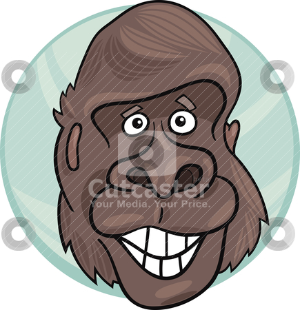 Gorilla ape stock vector clipart, cartoon illustration of funny gorilla ape by Igor Zakowski