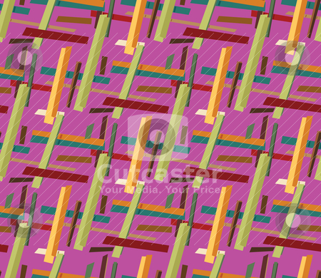 Seamless Lines stock vector clipart, Seamless yellow and green tone random hard line background pattern by Eric Basir
