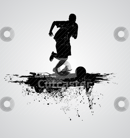 Soccer player vector stock vector clipart, soccer player vector by zabiamedve