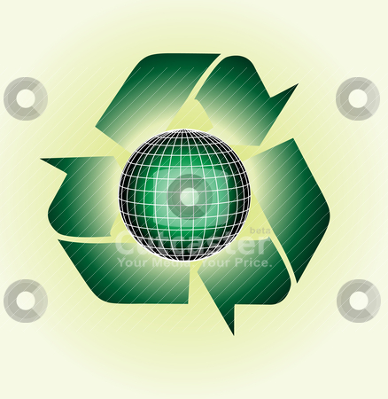 Recycle sign stock vector clipart, recylce signs   by zabiamedve
