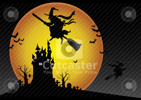 Halloween Background stock vector clipart, Halloween Background by zabiamedve