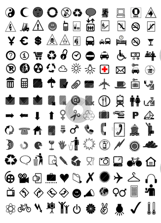 Vector icons stock vector clipart, vector icons by zabiamedve