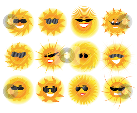 Sun stock vector clipart, Sun by zabiamedve