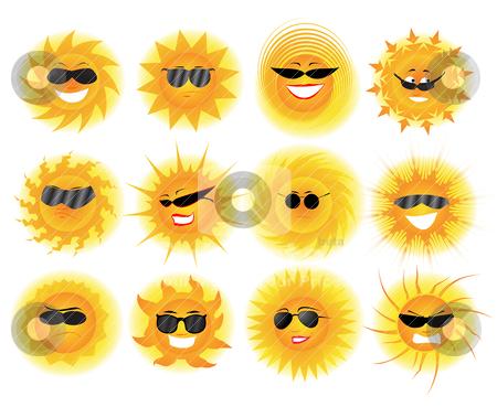 Sun stock vector clipart, Sun by zabiamedve